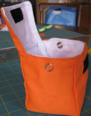 Orange bag open