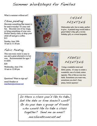 """child Summer Class flyer 2012  blog version"""