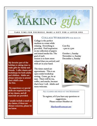 "Blog format  ""2012 Holiday Flyer, original"""