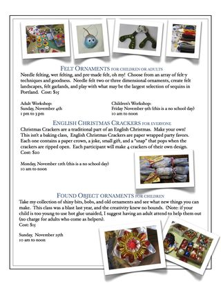2012 Holiday Class Flyer 2
