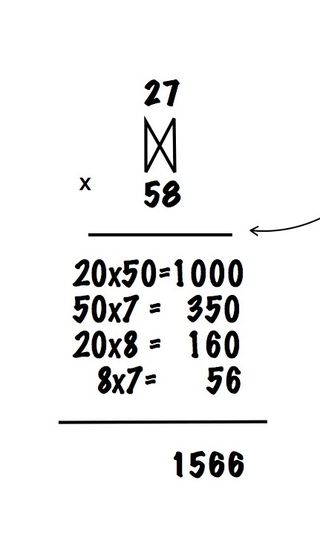 Double digit multiplication array 4th grade alternate method