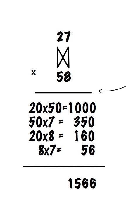 Double digit multiplication array 4th grade alternate method